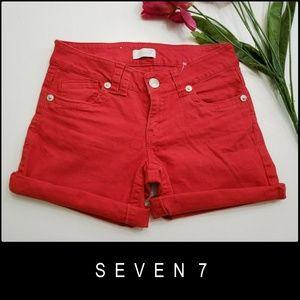 Seven 7 Woman Flat Front Folded Hem Stretch Short